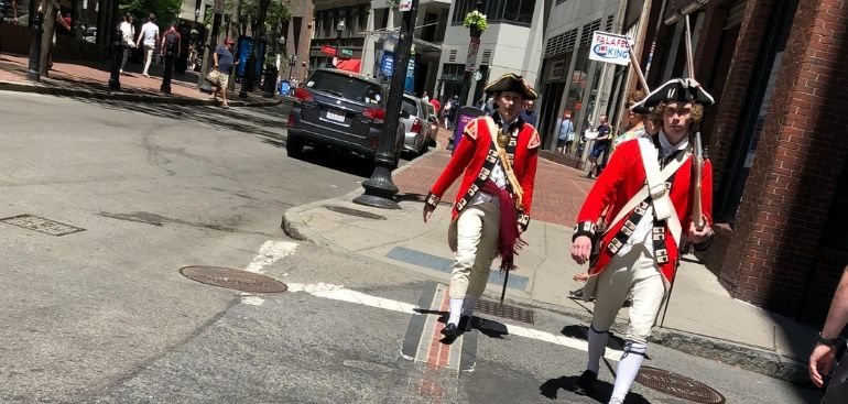 The British are coming and American Revolutionary War