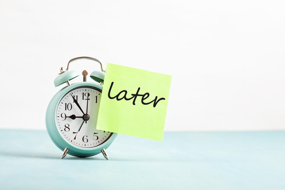 Stop speech procrastination